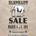 White Elephant Sale Poster | Edith Bolling Wilson Birthplace Museum | Wytheville, Virginia | 2011