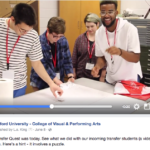 Facebook header video for Radford University College of Visual and Performing Arts | Video by Leslie King | 2017