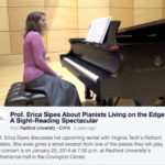 Video Teaser for a Faculty Recital Featuring Erica Sipes  | Radford University Department of Music | Video by Leslie King | 2014